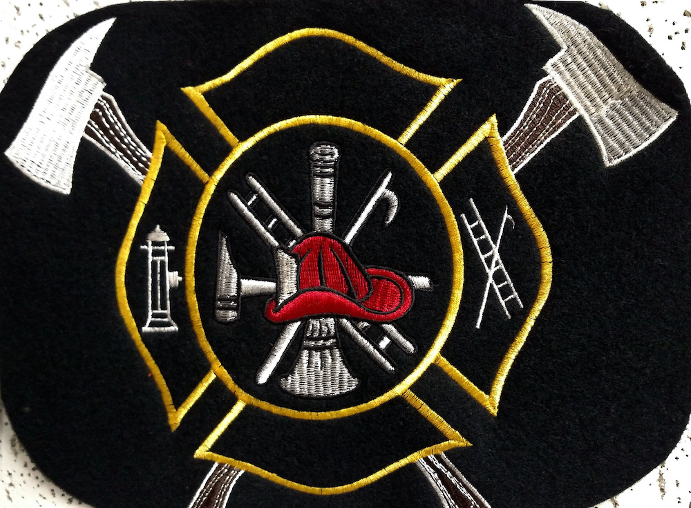 Embroidered Firefighters Logo
